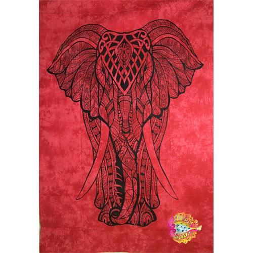 Pano-rixtari elefantes kokkino