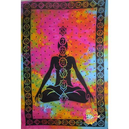 Pano toixou-rixtari, yoga meditation tie dye