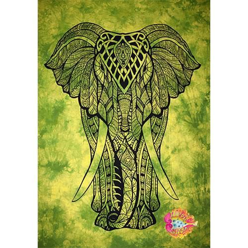 Pano-rixtari elefantes four special prints prasino