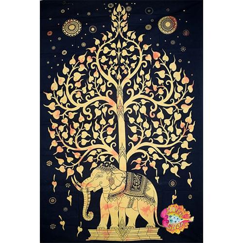 Pano toixou-rixtari elefantes kitrino-mauro