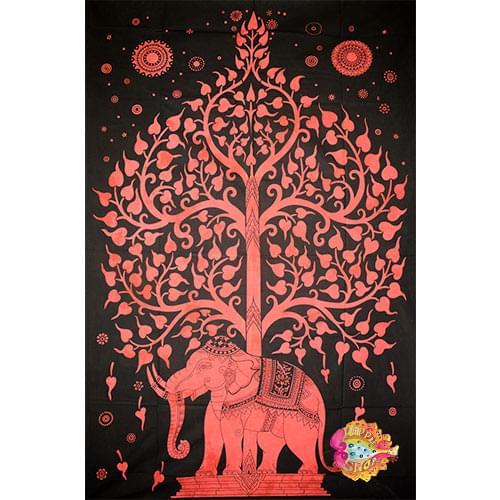 Pano toixou-rixtari elefantes kokkino-mauro