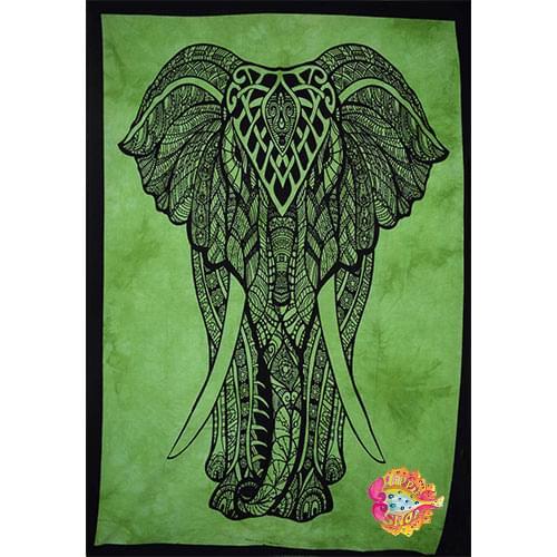 pano-mantili elefantes prasino-mauro