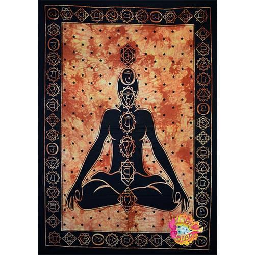 pano-mantili yoga meditaion mauro-portokali