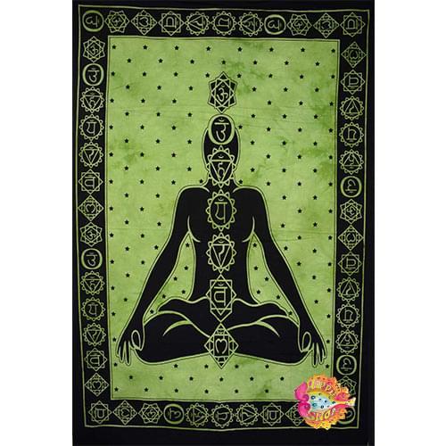 pano-mantili yoga meditaion prasino-mauro