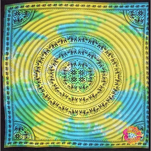 pano-rixtari elefantes tie-dye